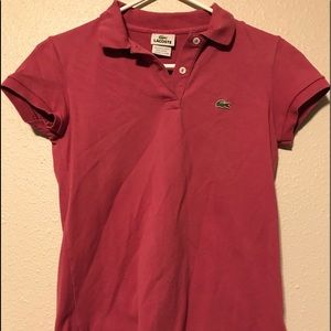 LaCoste French Polo. Red. Size 6 American.